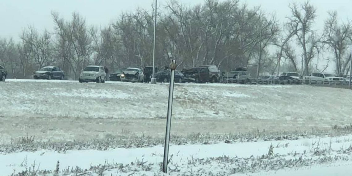 Out of state driver with Texas plates causes 40 car pile up